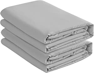 Basic Choice 2-Pack Deep Pocket Bed Fitted Sheet / Bottom Sheet - Twin, Gray