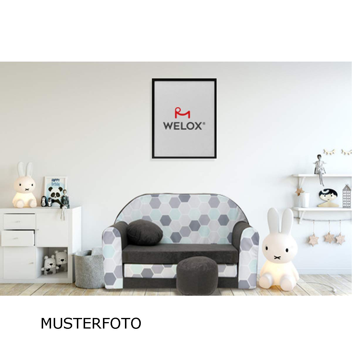 G30 Kindersofa Kinder Sofa Couch Schlafsofa Kinderzimmer Bett gem/ütlich violett Eule