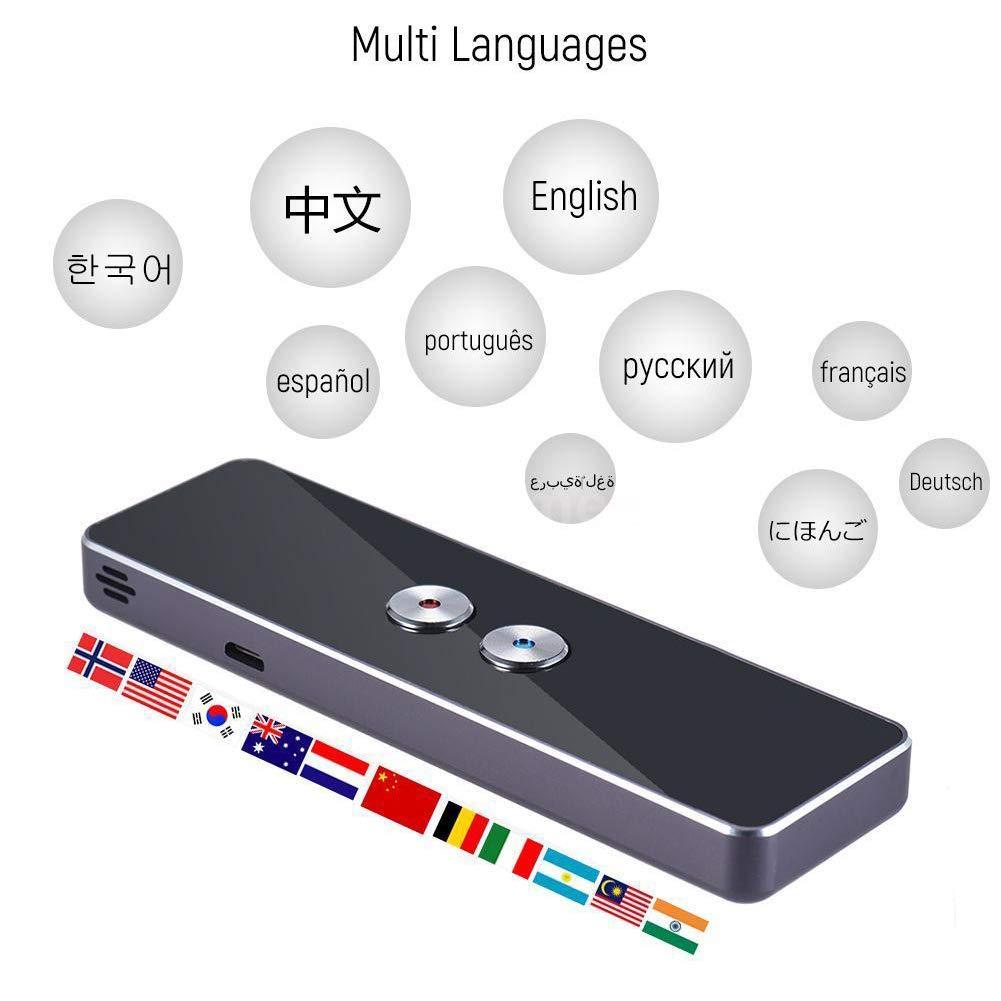 Trasduttore vocale istantaneo traduzione bidirezionale in tempo reale conversione simultanea senza fili conversione in tempo reale supporta 30 lingue. traduttore in lingua straniera