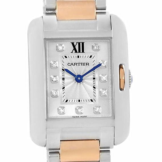 Cartier Tanque Anglaise Cuarzo Mujer Reloj WT100024 (Certificado) de Segunda Mano