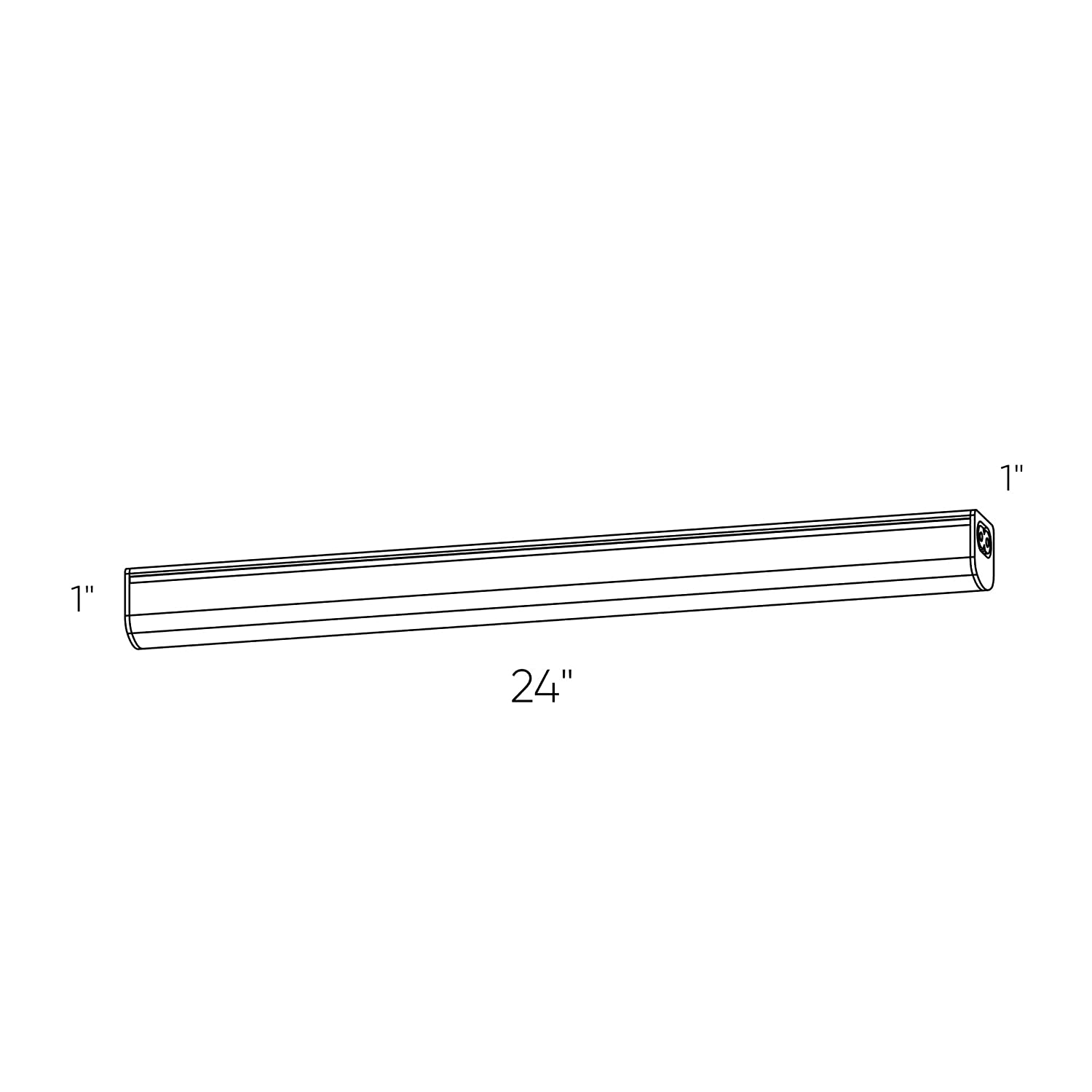 DALS Lighting 6024LED 24 Linear LED Under Cabinet Strip Light Satin Nickel