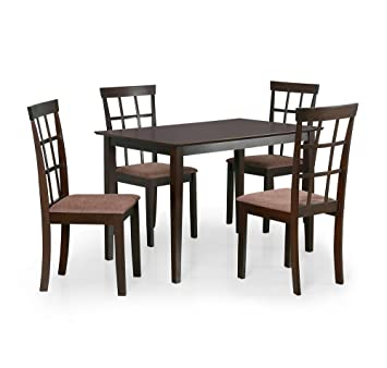 @home by Nilkamal Trivia Four Seater Dining Table Set (Cappuccino)
