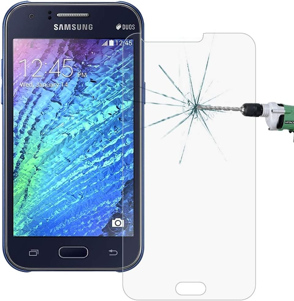 HUFAN 100 PCS for Galaxy J1 J100 0.26mm 9H Surface Hardness 2.5D Explosion-Proof Tempered Glass Screen Film Phone Glass Film