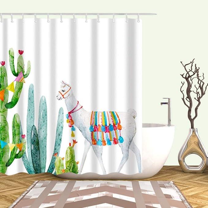 xkjymx Cortinas de Ducha Cortina de Ducha Creativa 3D Cactus de ...