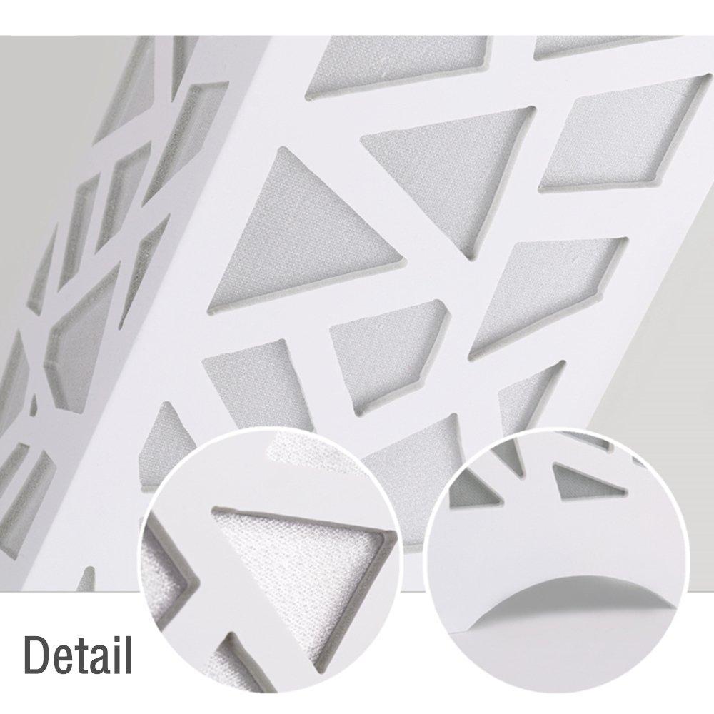 ELINKUME Lampadaire Lampe de Plancher de Plumes Blanches LED 6W, blanc, Interrupteur /à p/édale, douille de lampe E27,Blanc Chaud Lampe de Salon Moderne Simple LED Style