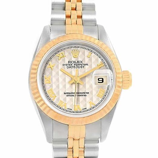 Rolex Datejust 69173 - Reloj hembra automático, autoviento: Rolex: Amazon.es: Relojes