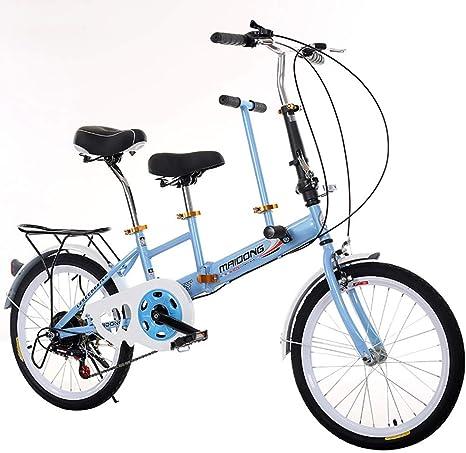LETFF Coche de Bicicleta Doble Plegable para Padres e Hijos ...