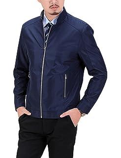 Amazon.com: Mens Autumn Winter Thin Loose Baseball Jacket ...