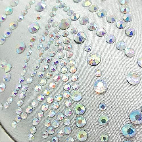 Banquete Fiesta Plata Verde BESTWALED Clutch Boda Maquillaje Damas Seda Bolsas De Para de Bolso de Mujeres Las De Embrague Fiesta Noche Mano Bolsa diamante y ISaqwUSF