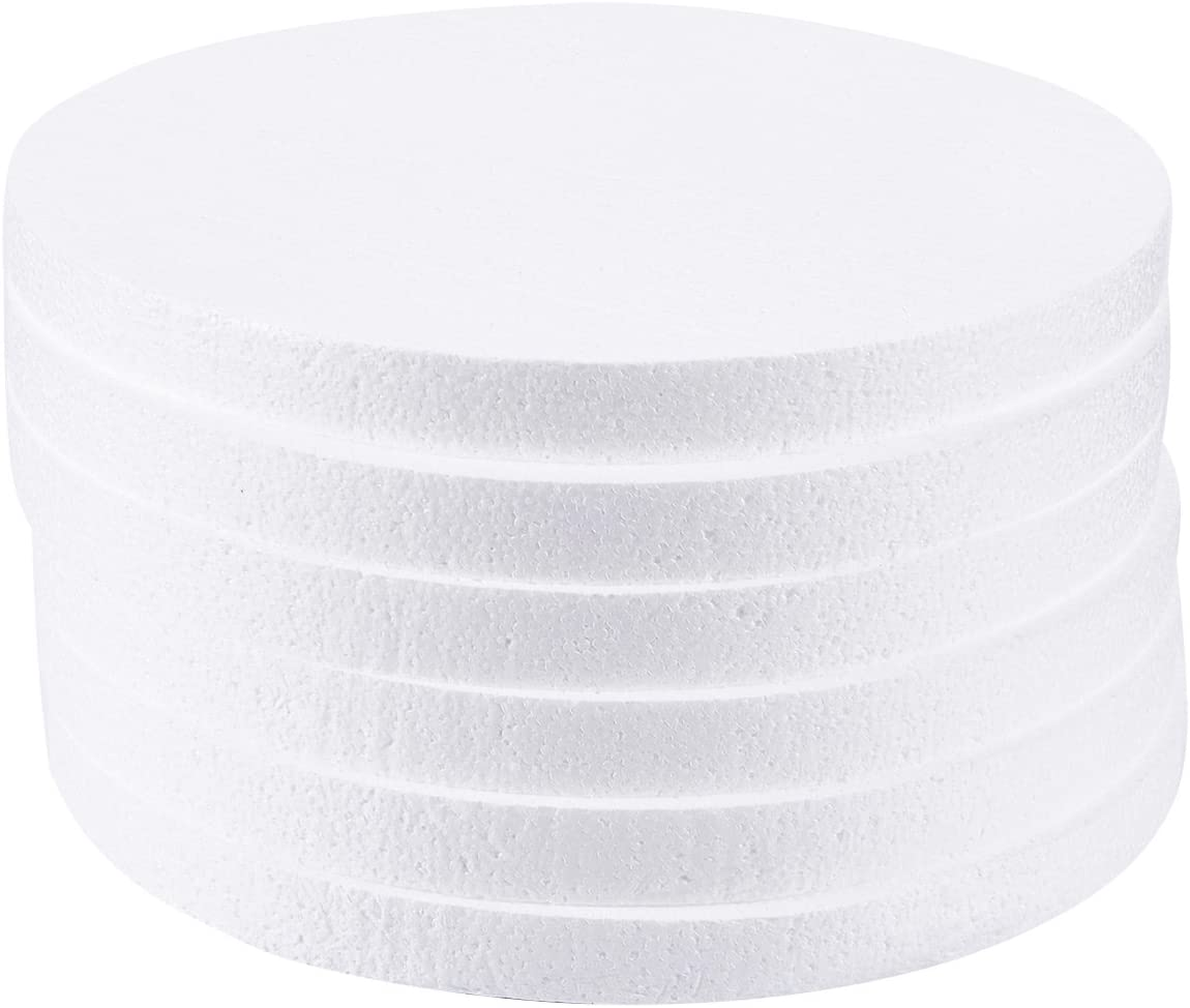 Foam Circles, Arts and Crafts Supplies (12 x 12 x 1 In, 6-Pack)