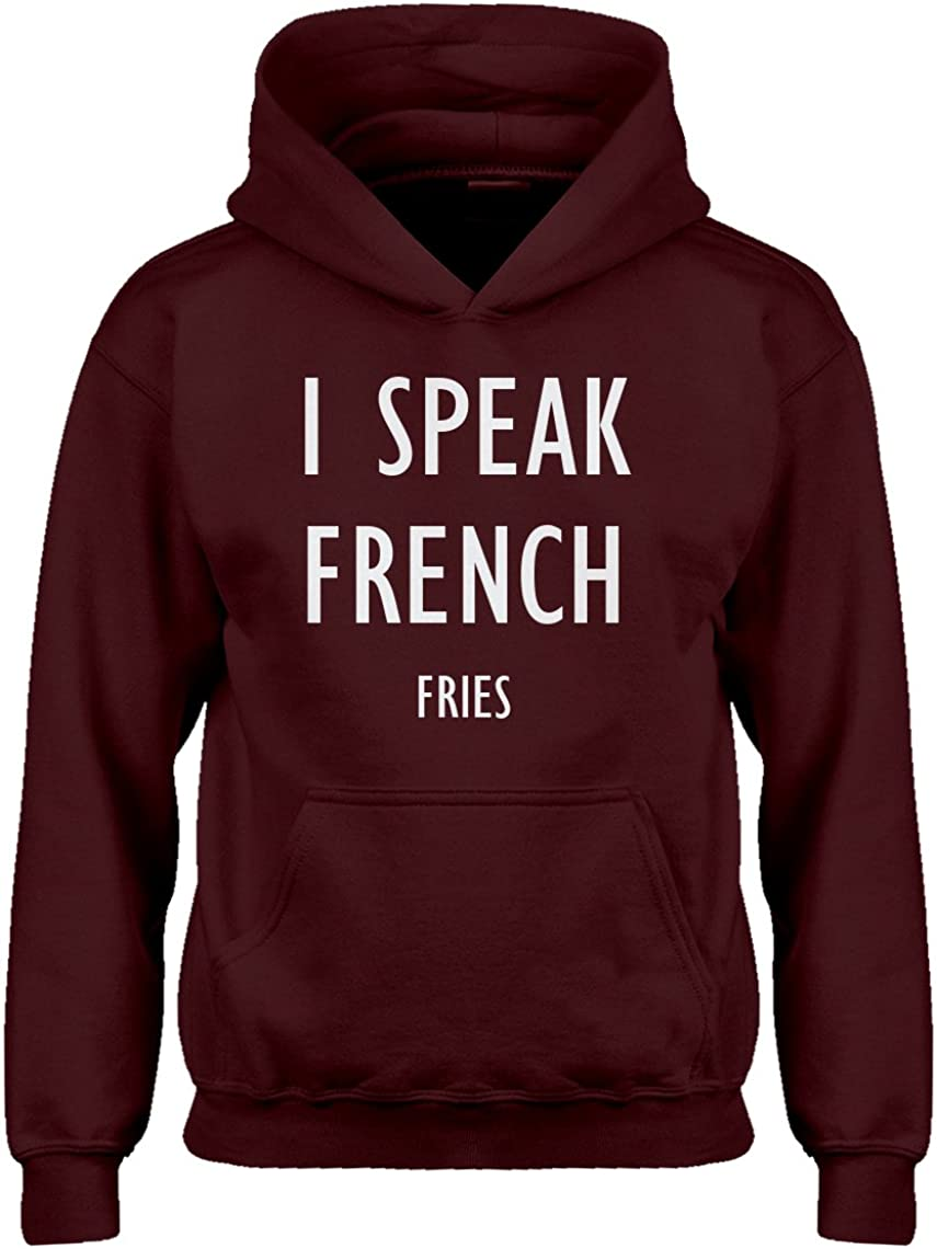 Indica Plateau I Speak French Fries Hoodie for Kids