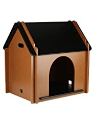 EBTOOLS casa de Madera para Mascotas Perro Gato Desmontable Decorativo caseta de Perro cabaña para Animal