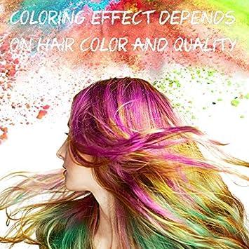 WOSTOO Pelo Tiza, 10 Colores Colorful temporales Pelo Tiza, Pelo färben para Todos los Pelo, Navidad, Carnaval, Chica Joven