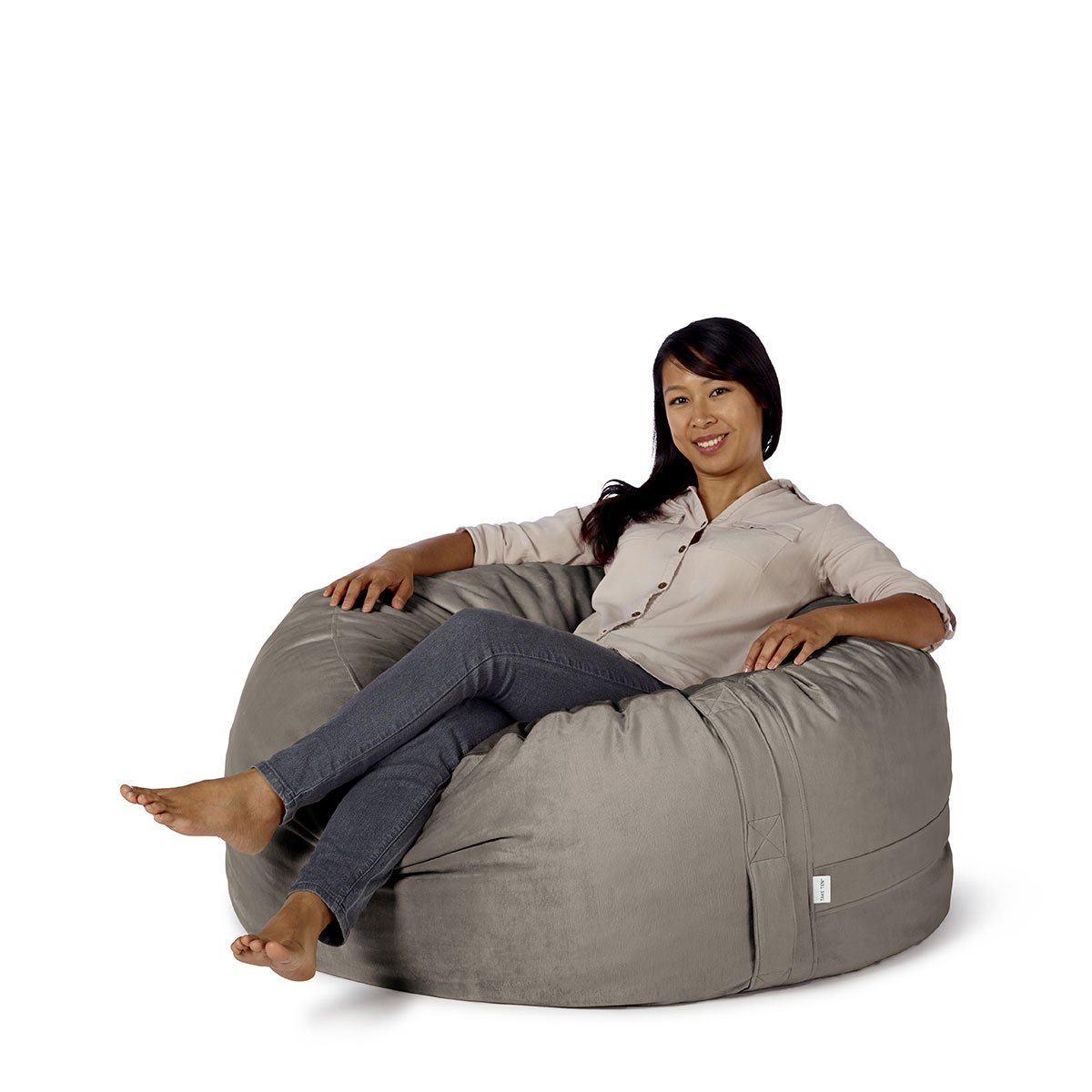 """Take Ten Medium 40"""" Luxury Bean Bag Chair – Multiple Colors / Seats 1 Adults / Durable and Comfortable"""