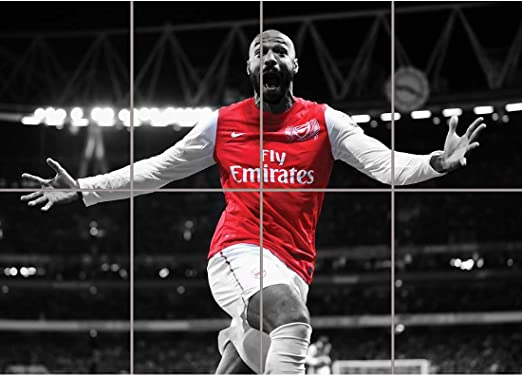 "THIERRY HENRY ARSENAL CELEBRATION CANVAS Art Poster Photo Print 30x20/"" CANVAS"