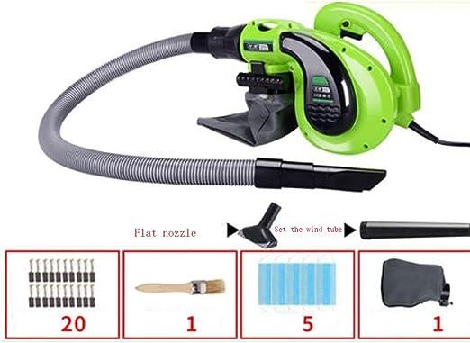 D&F Soplador y aspirador Ventilador Eléctrico de Mano Soplador de Aire Soplador de Hojas para Limpieza de ...