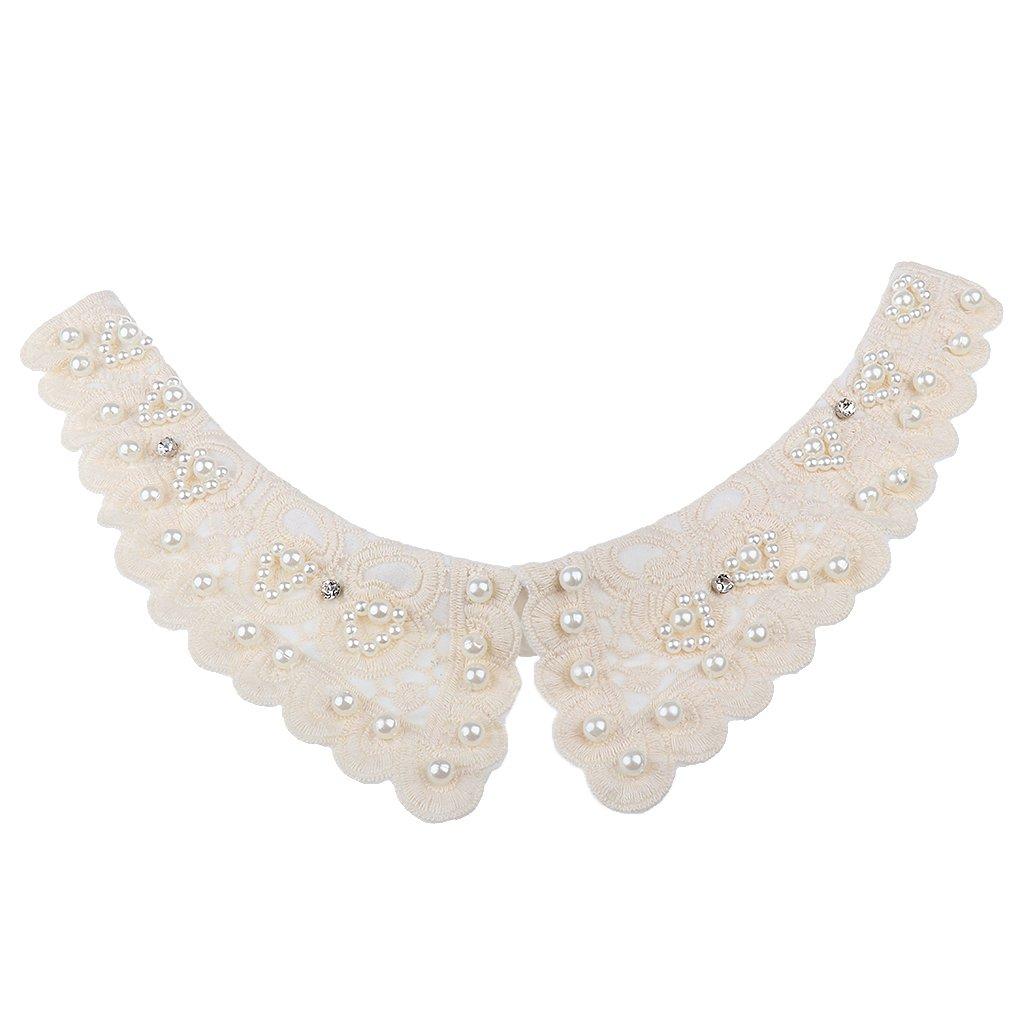 Baoblaze 2pcs Colletto Falso Staccabile Camicia Decorazione Del Collo per Signore Donne