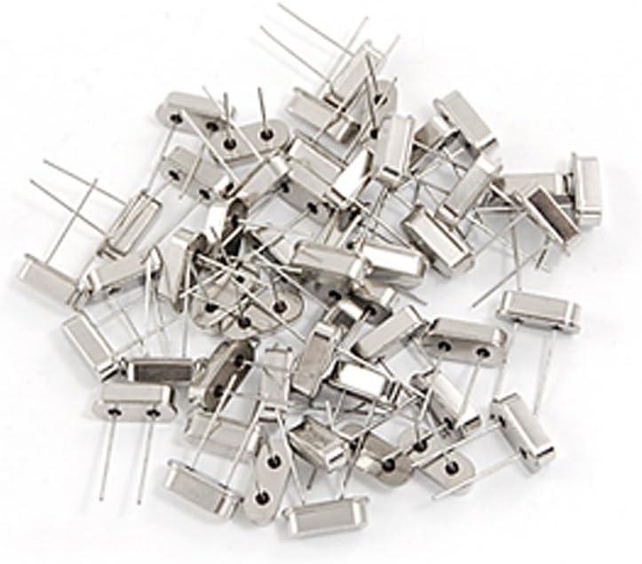 Aexit 50 Pcs Passive Components 24.000MHz 24M Hz 20PF DIP Quartz Crystal Crystals Oscillator HC-49S