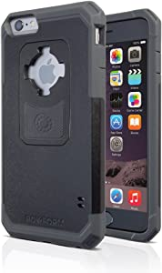 Rokform iPhone 6/6s PLUS Rugged Series Military Grade Magnetic Protective Phone Case with twist lock & universal magnetic car mount (Black/Gun Metal) 302343