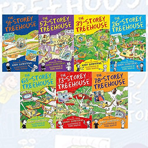 Andy Griffiths Treehouse Collection 7 Books Set (The 65-Storey Treehouse, The 52-Storey Treehouse, The 39-Storey Treehouse, The 13-Storey Treehouse, The 26-Storey Treehouse, The 78-Storey Treehouse, T
