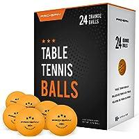 PRO SPIN Piłki do pingponga - pomarańczowe 3-gwiazdkowe 40 piłek do tenisa stołowego (opakowanie 24 szt…