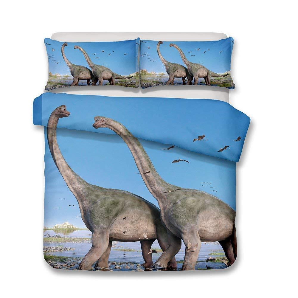 Style 1#, 140x200cm Parure de lit avec Housse de Couette 3D Dinosaure Animal Hommes Jeunes Gar/çons Enfants Simple//Double//King Housse de Couette et Taies doreiller