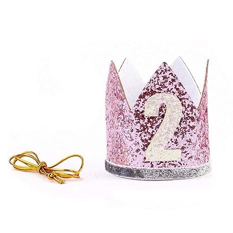 Corona de cumpleaños Diadema con letras elásticas brillantes ...