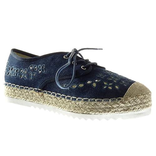 Derbies Ouverte Mode Angkorly Plateforme Chaussure Espadrille f7Yy6bg