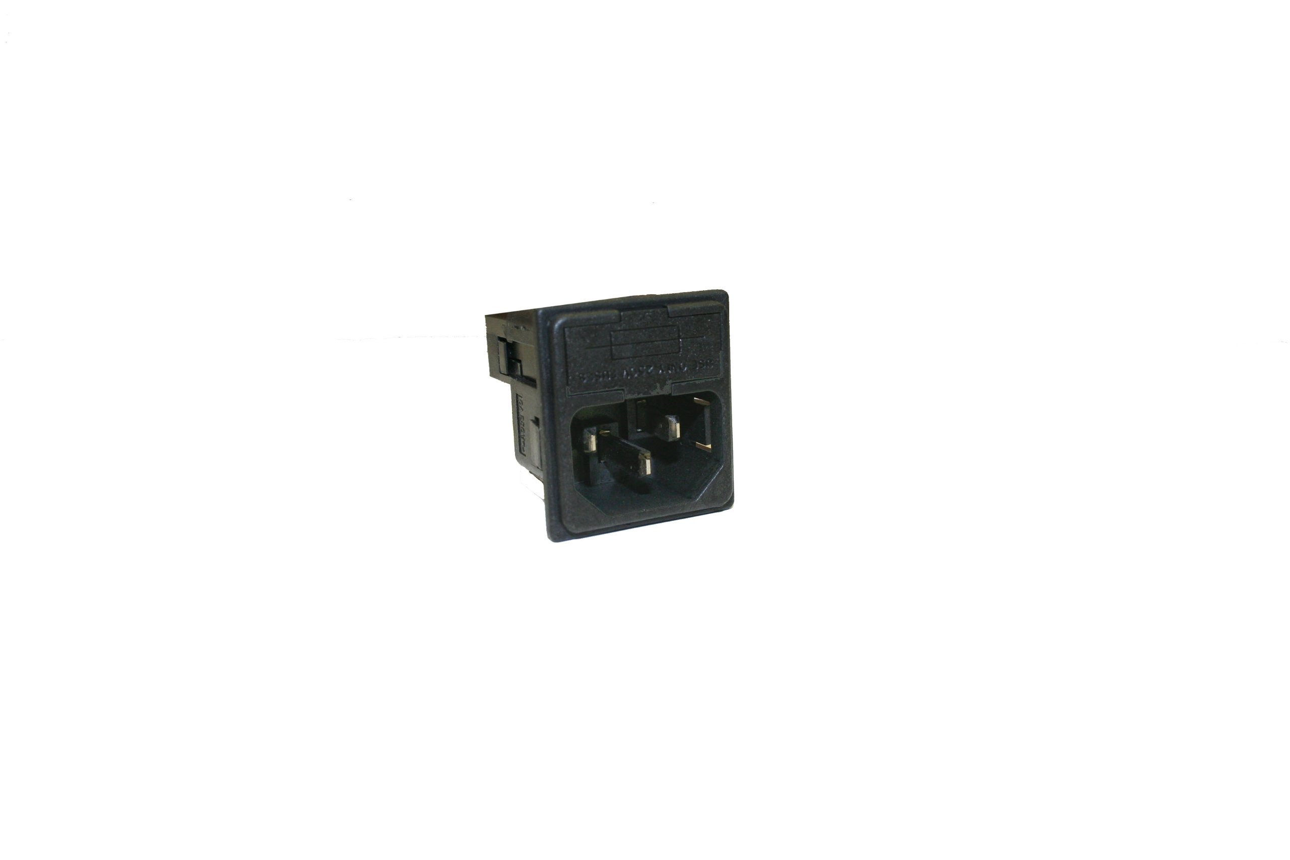 Interpower 83110180 Two Function Double Fused Module, C14 Inlet, Double Fused, 1.5mm Panel Thickness, 10A Current Rating, 250VAC Voltage Rating by Interpower