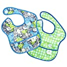 Bumkins Disney Baby Waterproof Super Bib, Monsters, 6-24 Months, 2 Count