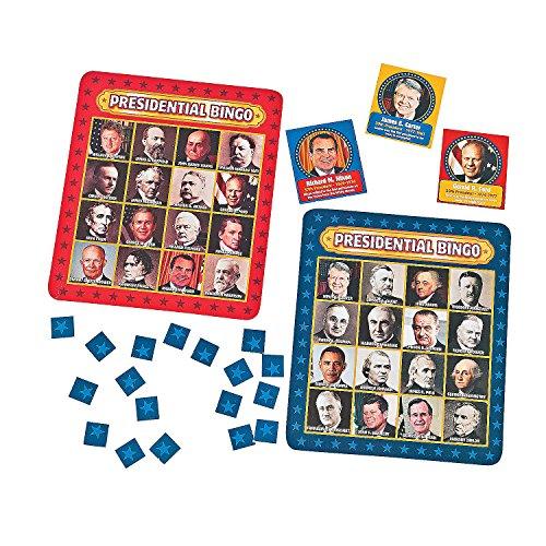 Presidential Bingo Game (Presidents Game)