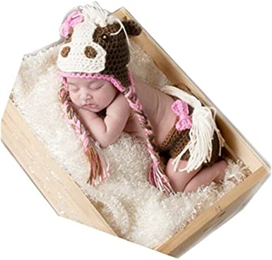 Baby Photo Props Newborn Girls Boys Crochet Knit Butterfly Costume Set with Hat