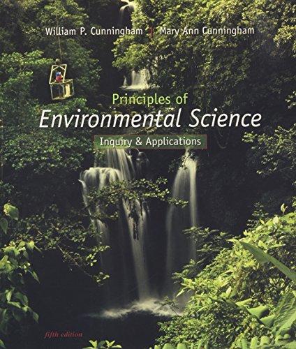 Principles of Environmental Science Inquiry and Applications