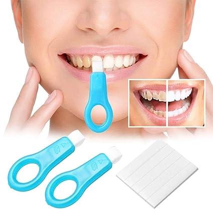 Kit de blanqueamiento de dientes Nano, Cepillo de limpieza de dientes Cepillo de blanqueamiento Tiras