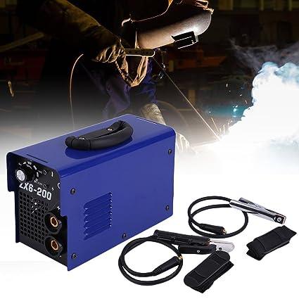 Blackpoolal Máquina de Soldadura Continua Profesional MMA ZX6-200 Dispositivo Manual PWM Control 220V EU Accesorios de Soldadura: Amazon.es: Bricolaje y ...