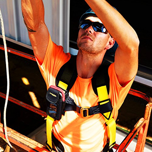 KwikSafety (Charlotte, NC) TYPHOON | ANSI Fall Protection Full Body Safety Harness | Personal Protective Equipment | Dorsal Ring Side D-Rings Grommet Leg Straps Tool Lanyard Bolt Pouch, Construction by KwikSafety (Image #8)