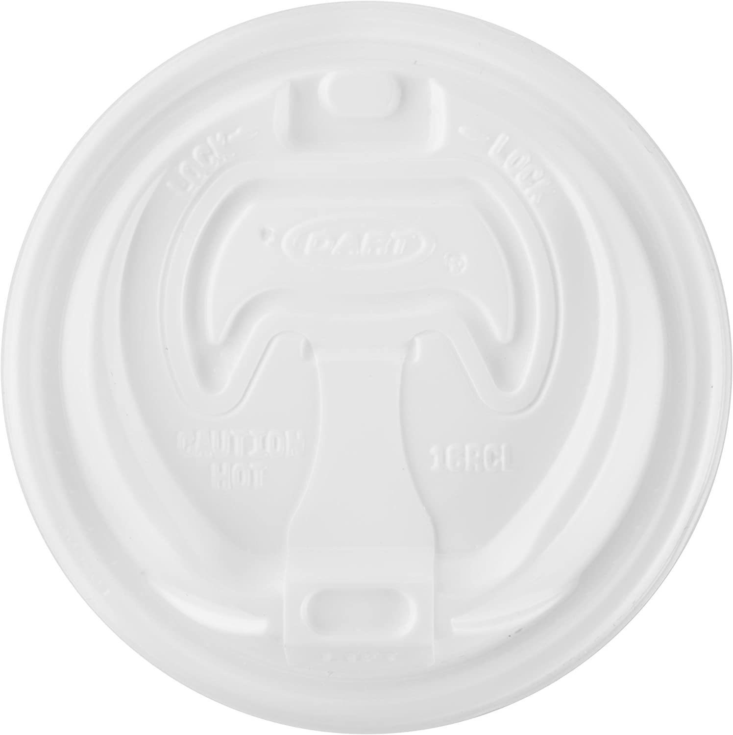 DART 16RCLW-1 Optima Reclosable Lid for Foam Cups and Containers, White, 100 Piece
