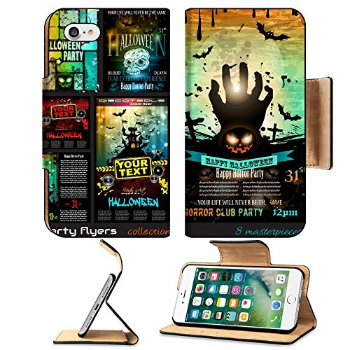 Liili Premium Apple iPhone 7 Flip Pu Leather Wallet Case IMAGE ID 32322977 Halloween Party Flyer with creepy colorful elements with a black portion of background for your (Ideas For Halloween Party Flyers)
