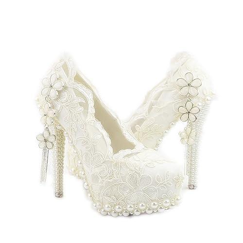 Zapatos De Moda Alto Mujeres Lacitena Tacón Perlas qPtUBH