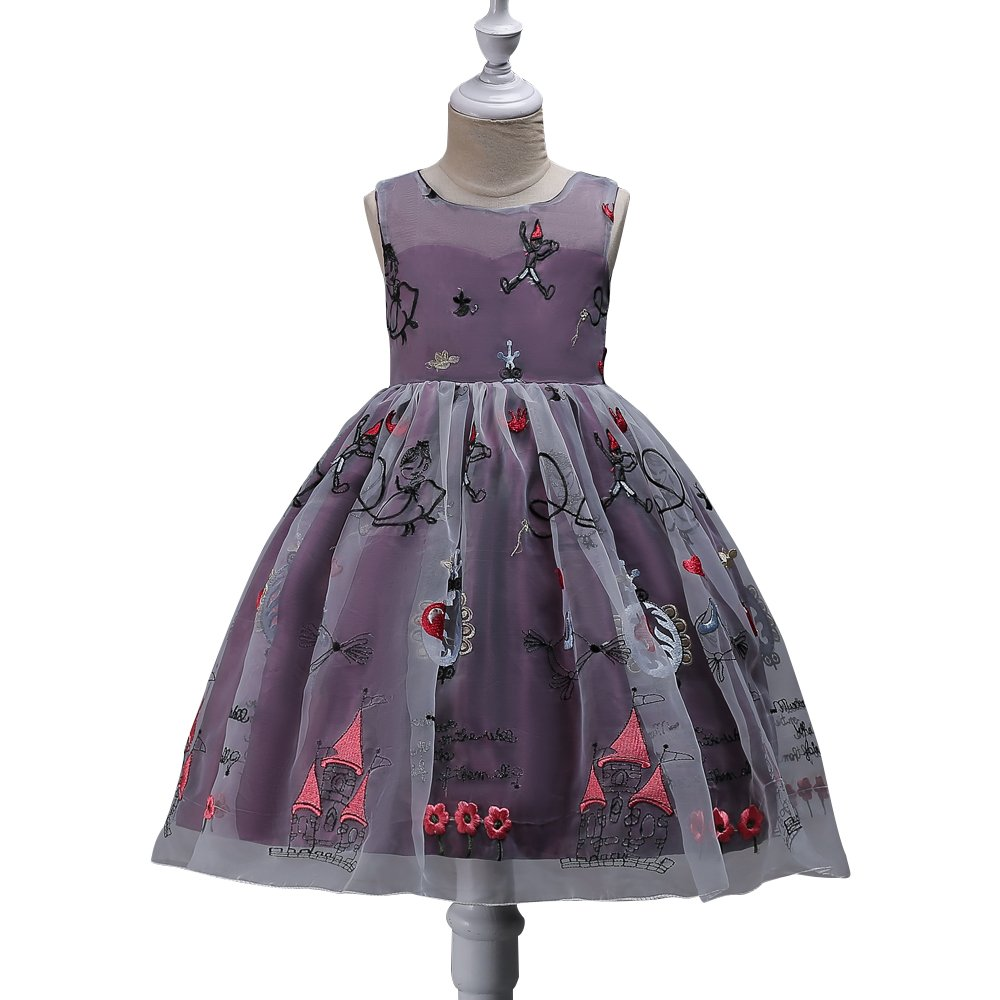 HBDesign Embroidered Girl's Perspective Dresses for Sundry Pageant Party Purple Size 12