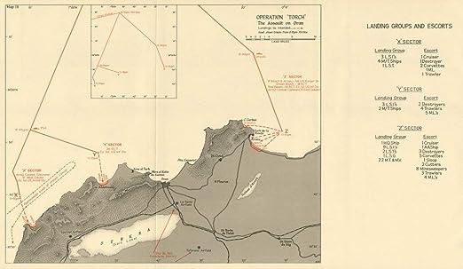 Operation Torch World War 2 1966 map 7 November 1942 The Assault on Oran