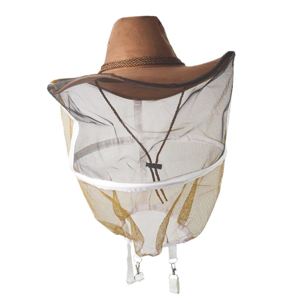 Jili Online Breathable Beekeeping Veil Cow Boy Hat Beekeeper Hat Bee Net Hat Protector