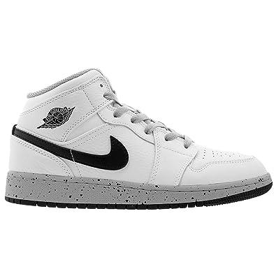 the best attitude a2178 7e632 Nike Jordan Youth 1 Mid Bg Leder Trainer  Amazon.de  Schuhe   Handtaschen