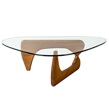 Poly And Bark Noguchi Style Triangular Coffee Table In Walnut