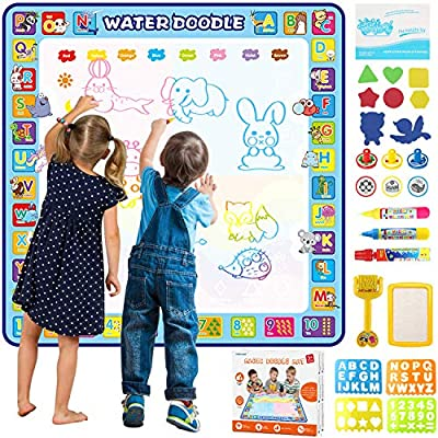 Amazon Com Tobeape 100 X 100 Cm Extra Large Aqua Magic Doodle Mat Colorful Educational Water Drawing Doodling Mat Coloring Mat For Kids Toddlers Boys Girls Age Of 2 3 4 5 6 7 8 Toys Games
