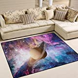 ALAZA Galaxy Nebula Solar System Area Rug Rugs for Living Room Bedroom 7'x5'