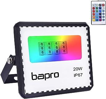 20W RGB Foco LED con Control Remoto, Foco Proyector Exteriores ...