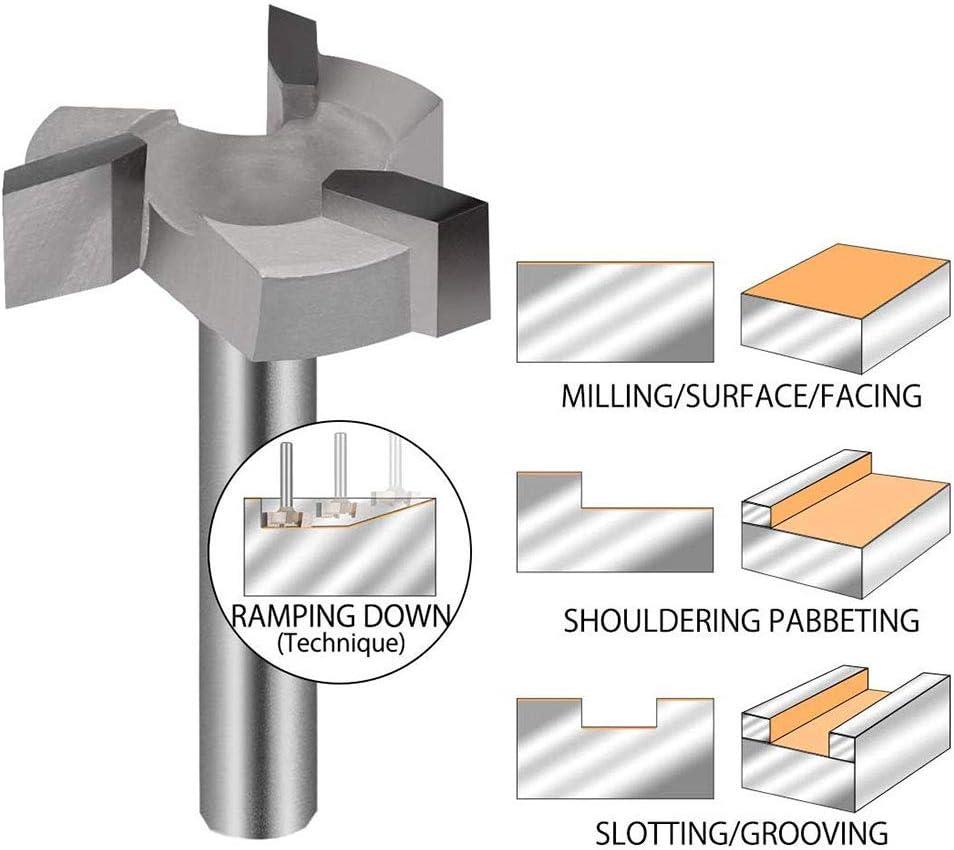 Cozyhoma CNC Fraise /à d/éfoncer /à pointe en carbure de tungst/ène durable avec pointe en carbure de tungst/ène gris