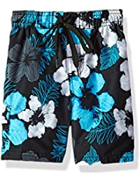 Boys' Hangout Floral Quick Dry Beach Board Shorts Swim Trunk