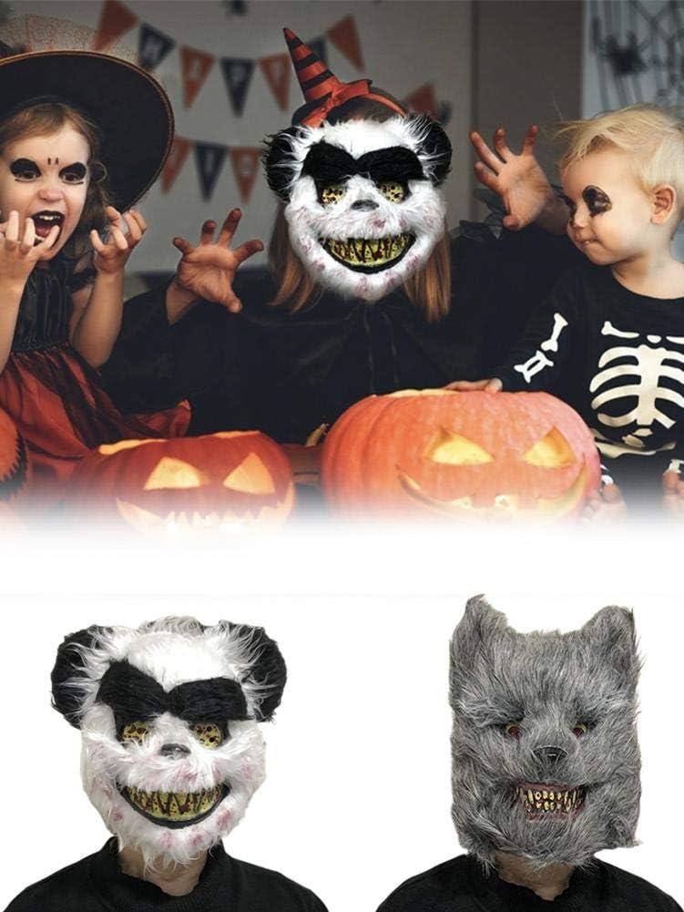 Máscara De Lobo De Halloween Disfraz De Lobo Aterrador Máscara ...
